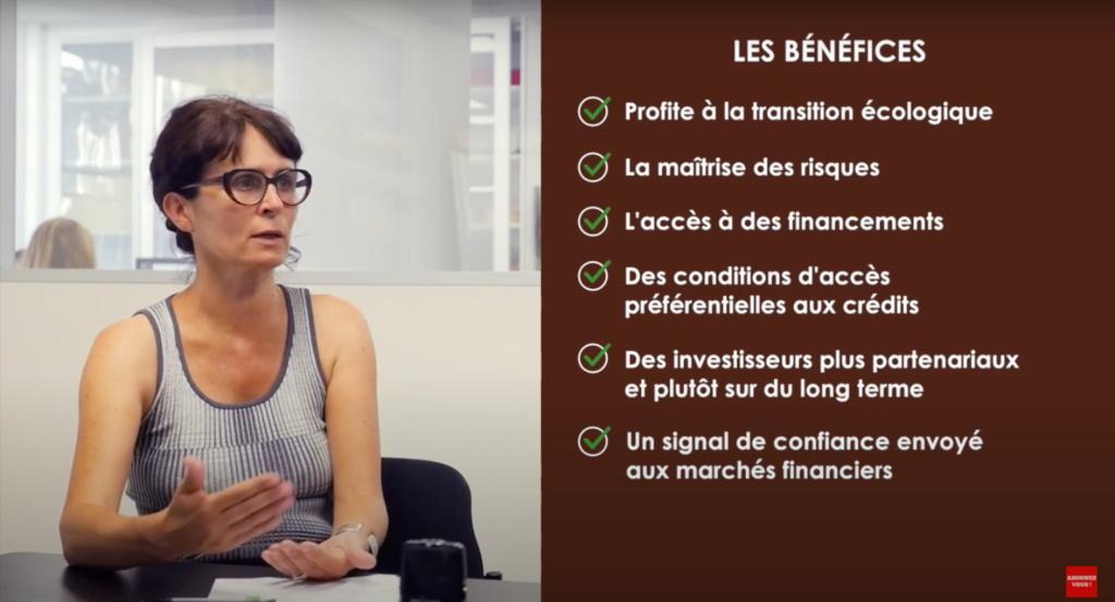 Anne Chanon nous explique les bénéfices d'une stratégie RSE pour accéder à des financements